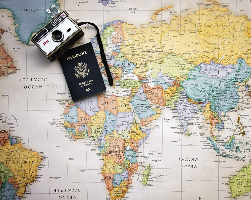 carte monde passeport